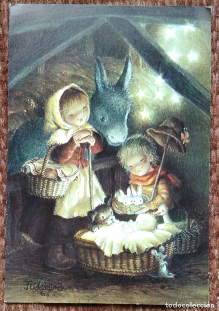 TARJETA DE NAVIDAD - ILUSTRACION FERRANDIZ (Postales - Postales Temáticas - Navidad)