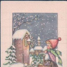Postales: POSTAL FELIZ AÑO NUEVO - CARICATURA NIÑA EN LA NIEVE 195/2 P.C PARIS. Lote 180158687