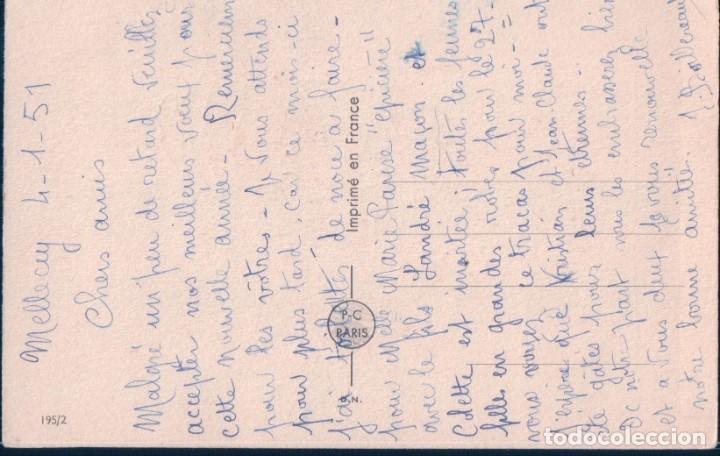 Postales: POSTAL FELIZ AÑO NUEVO - CARICATURA NIÑA EN LA NIEVE 195/2 P.C PARIS - Foto 2 - 180158687