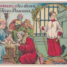 Postales: ANTIGUA FELICITACIÓN - EL MONAGUILLO LES DESEA FELICES PASQUAS. Lote 180162235