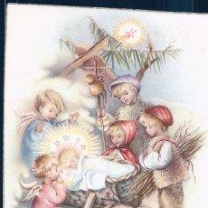 Postales: POSTAL NIÑO JESUS CON PASTORES ANGELES NIÑOS - FELIZ NAVIDAD - UNIVERS 452. Lote 180226405