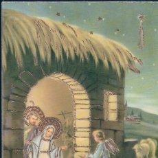Postales: POSTAL EN RELIEVE NAVIDAD - NIÑOS JESUS MARIA JOSE ANGELES ESTABLO - ESTRELLA - GECAMI 4420. Lote 180241965