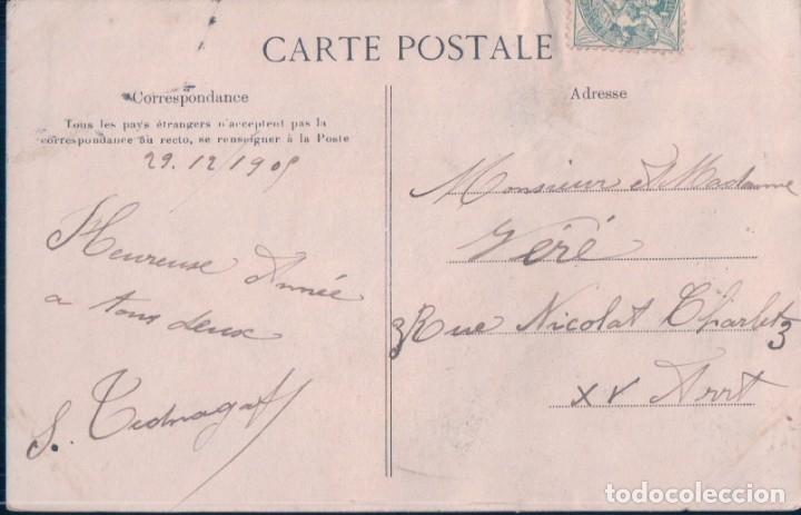 Postales: POSTAL FELICITACION AÑO 1906 - HELIO E LE DEY - CIRCULADA - Foto 2 - 180242138