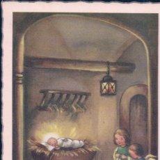 Postales: POSTAL NAVIDAD - JOYEUX NOEL - DIBUJO NIÑO DE DIOS Y ANGELES. Lote 180326536