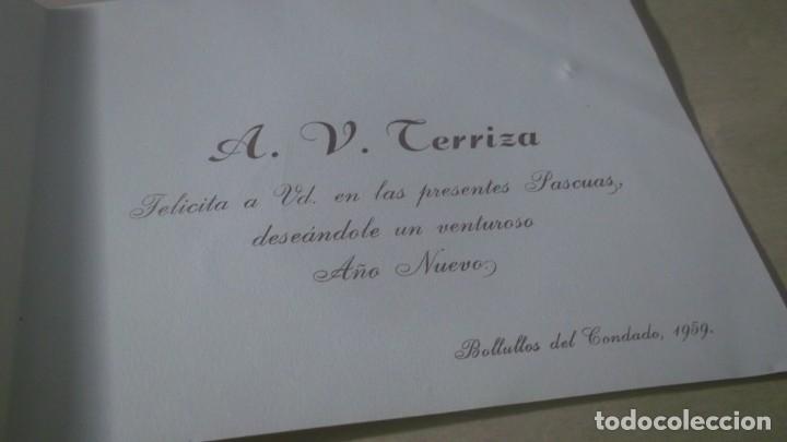 Postales: ANTIGUA POSTAL NAVIDAD PUBLICIDAD A.V.TERRIZA - BOLLULLOS DEL CONDADO AÑO 1959 - Foto 2 - 180512727