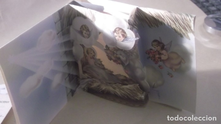 Postales: ANTIGUA POSTAL NAVIDAD TROQUELADA AÑO 1959 - Foto 2 - 180512836