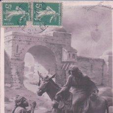Postales: POSTAL NAVIDAD - JESUCRISTO - BURRO - LA CHARITE - CORAZON CIRCULADA. Lote 180891087