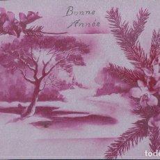 Postales: POSTAL NAVIDAD - BONNE ANNEE - MOTIVOS NAVIDEÑOS - FONDO PLATEADO - P C PARIS - ESCRITA. Lote 180918287