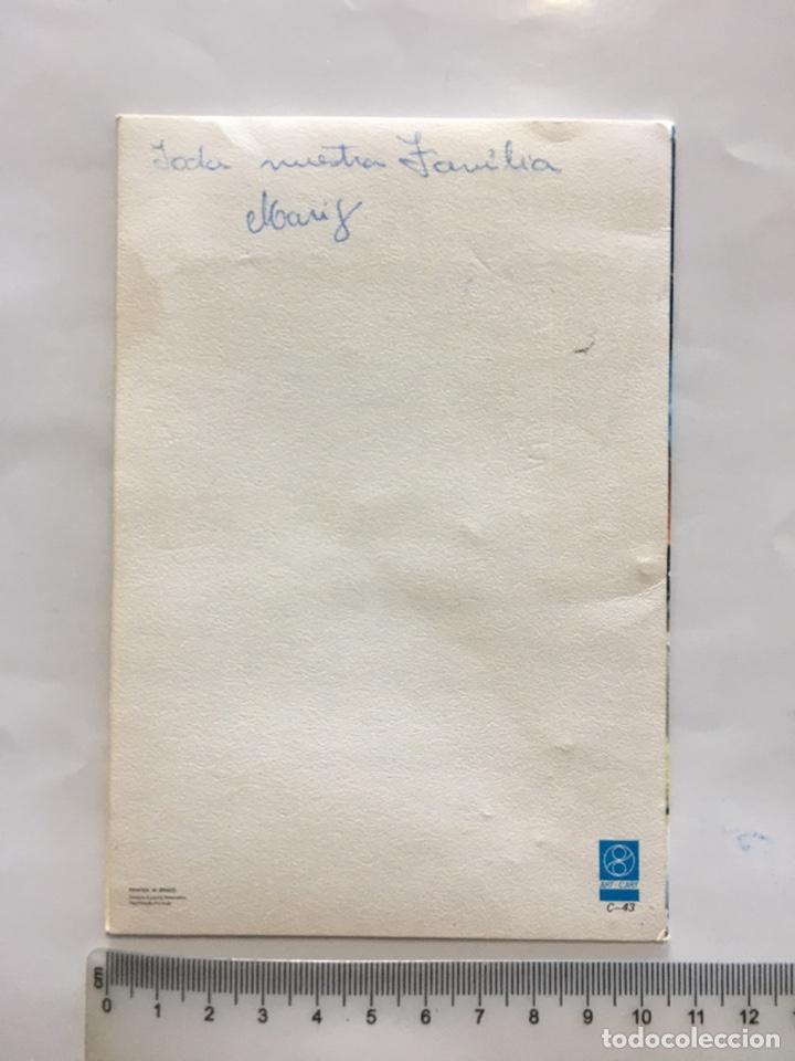 Postales: FELICITACIÓN NAVIDAD. DIPTICO. ILUSTRACIÓN?. PRINTED IN BRAZIL. H. 1980?. - Foto 2 - 180946727
