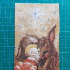 Postales: ORTIZ X344 1982 NIÑO JESUS/BURRO-DETALLES DORADOS. POSTAL DIPTICA. ILUSTRA RAQUEL. ESCRITA. Lote 181600983