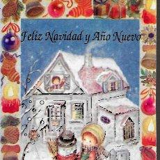 Postales: FELICITACION NAVIDAD CONI ( CONSTANZA ) * NIÑA CON MUÑECO DE NIEVE * ARGENTINA. Lote 181929603