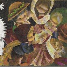 Postales: FELICITACION NAVIDAD SALMONS * LA VIRGEN Y JESÚS RODEADOS DE NIÑOS Y 2 ANGELITOS *1964. Lote 181938037