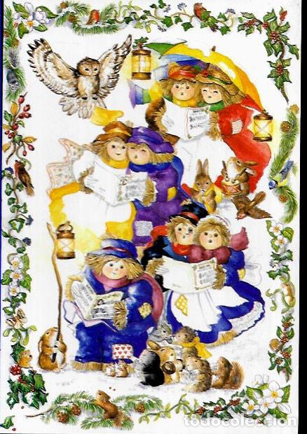 FELICITACION NAVIDAD * GRUPO CANTANDO VILLANCICOS * 1997 (Postales - Postales Temáticas - Navidad)