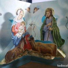 Postales: FELICITACION TROQUELADA NAVIDAD JOAN * NACIMIENTO * ADORNADA CON PURPURINA.1971. Lote 182987908