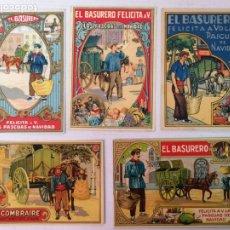 Postales: 92 FELICITACIONES DE NAVIDAD EL BASURERO. Lote 183093772