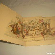 Postales: PRECIOSA POSTAL DE NAVIDAD TROQUELADA DE 4 CUADRANTES. 12 X 11 CM. ESCRITA.. Lote 183202532