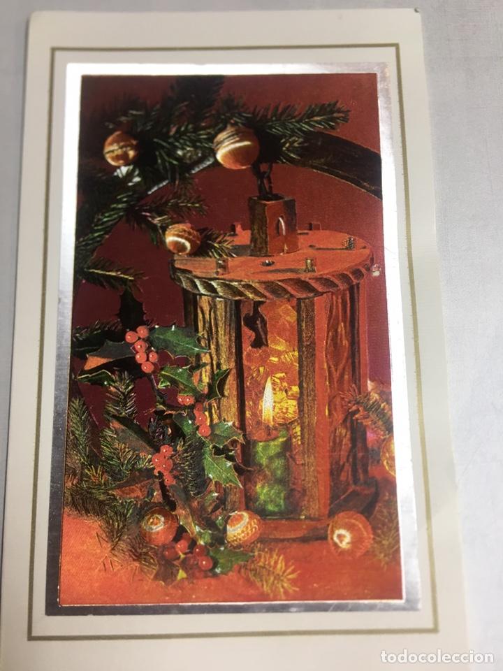 PRECIOSA POSTAL NAVIDEÑA - PARECE DE TELA - 11.3X18 - SIN CIRCULAR (Postales - Postales Temáticas - Navidad)