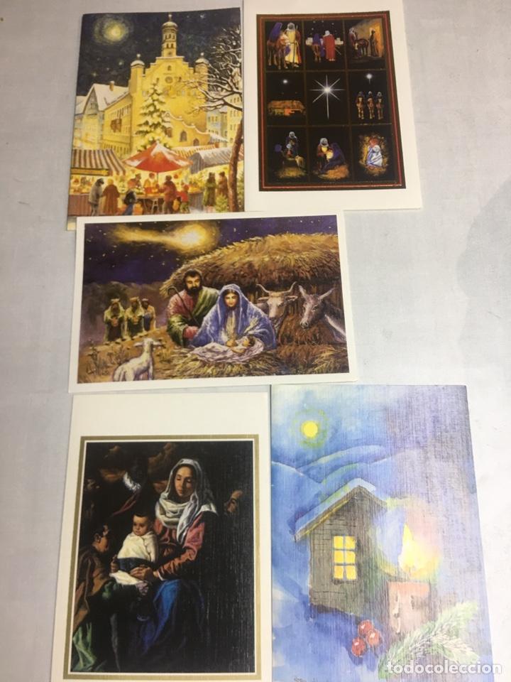 Postales: POSTAL NAVIDAD - ASOCIACION DE PINTORES CON LA BOCA - 12 POSTALES DIPTICAS SIN CIRCULAR - Foto 2 - 183306463