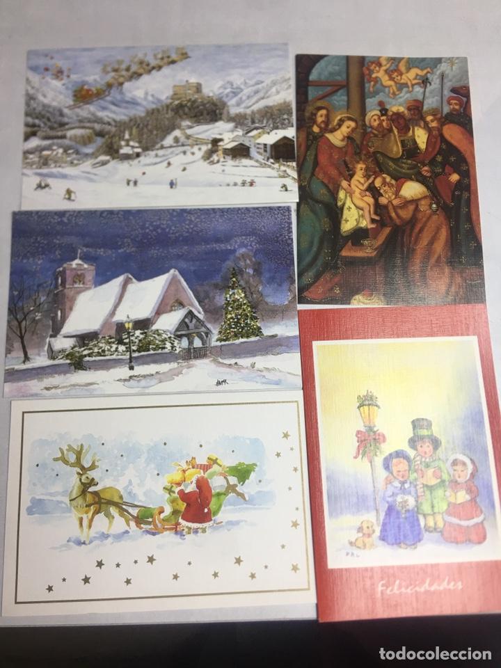 Postales: POSTAL NAVIDAD - ASOCIACION DE PINTORES CON LA BOCA - 12 POSTALES DIPTICAS SIN CIRCULAR - Foto 3 - 183306463