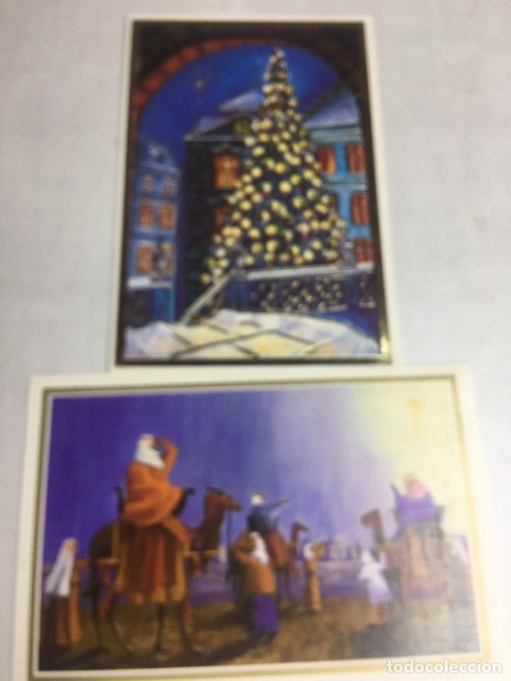 POSTAL NAVIDAD - ASOCIACION DE PINTORES CON LA BOCA - 12 POSTALES DIPTICAS SIN CIRCULAR (Postales - Postales Temáticas - Navidad)