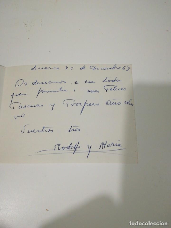 Postales: POSTAL NAVIDAD AÑOS 60 ORIGINAL PINTADO CON LA BOCA POR FOWIER - SALUDO ALEGORICO Nº3817 - Foto 3 - 183342082