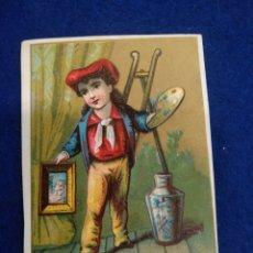 Postales: CROMO, POSTAL , FELICITACION LITOGRAFIADO.. Lote 183465807