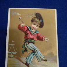 Postales: CROMO, POSTAL , FELICITACION LITOGRAFIADO.. Lote 183465986