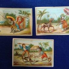 Postales: LOTE DE 3 CROMOS, POSTALES , FELICITACION LITOGRAFIADO.. Lote 183470871