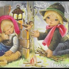 Postales: TARJETA NAVIDAD NUCO ( NÚRIA BARÓ )* PASTORCITOS *1974 ( 13,50 X 7,50). Lote 183535772