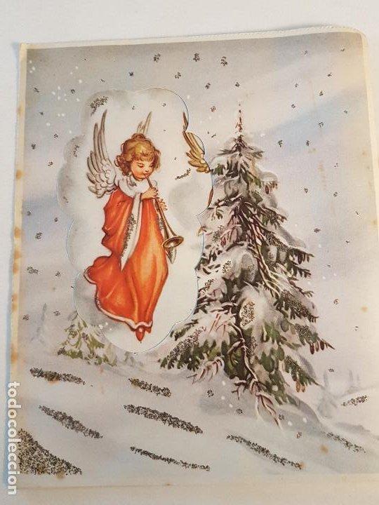 FELICITACION NAVIDEÑA DESPLEGABLE 13X16 CMTS (Postales - Postales Temáticas - Navidad)