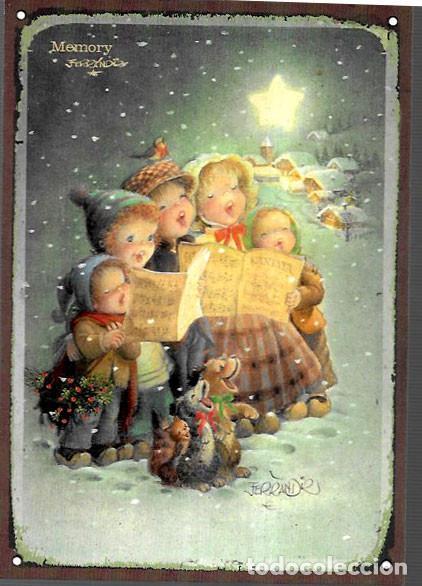 POSTAL NAVIDAD FERRÁNDIZ * NIÑOS CANTANDO VILLANCICOS BAJO LA NIEVE * ( NO DÍPTICO) (Postales - Postales Temáticas - Navidad)