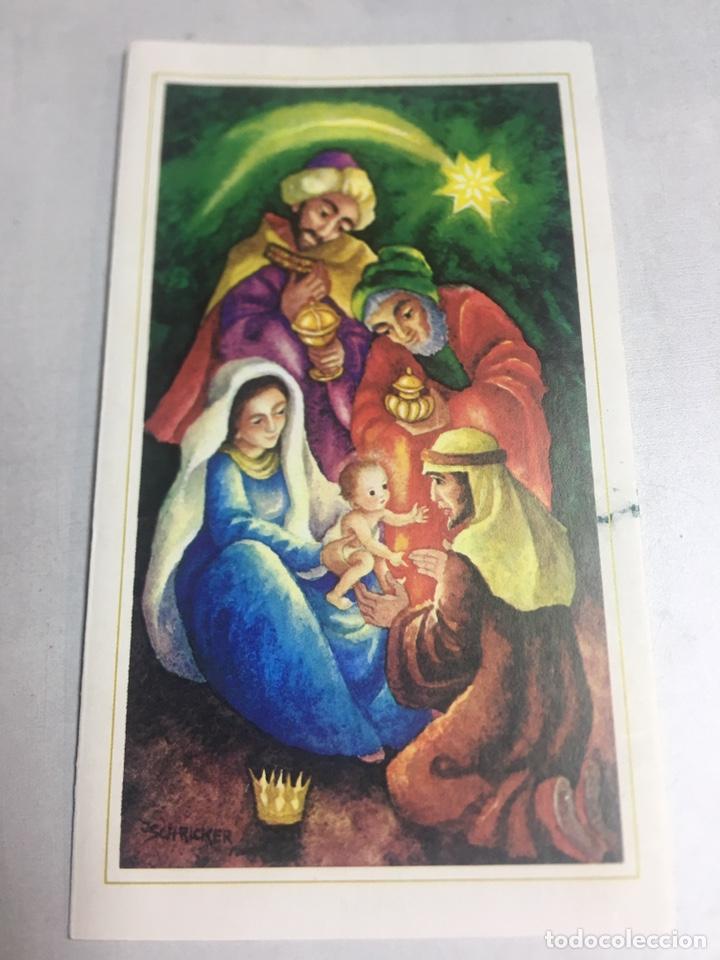 POSTAL DE NAVIDAD - DIPTICO CIRCULADA - ILUSTRACIÓN JSCHRICKER - 9X16CM (Postales - Postales Temáticas - Navidad)