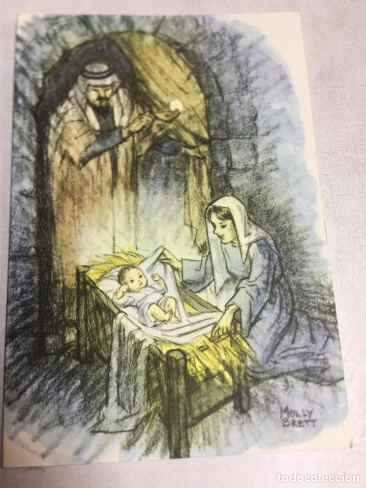 POSTAL NAVIDAD - DIPTICO CIRCULADA - BY MOLLY BRETT - 8.3X12CM (Postales - Postales Temáticas - Navidad)