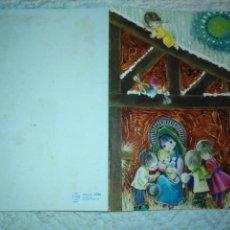Postales: ESCUCHO OFERTAS - ANTIGUA FELICITACION NAVIDEÑA CHRISTMAS ESCRITA BELEN NACIMIENTO . Lote 185187710