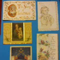 Postales: LOTE DE HERMOSAS TARJETAS NAVIDEÑAS. . Lote 185685366