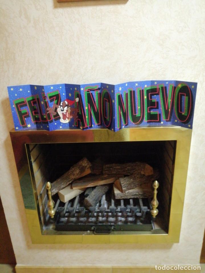 POSTAL DE NAVIDAD DE UN METRO WARNER BROS 1997 TODOS TUS PERSONAJES (Postales - Postales Temáticas - Navidad)