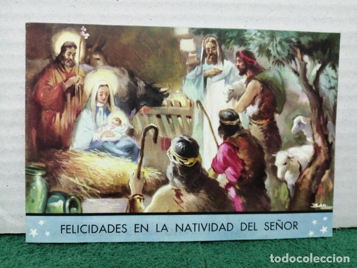 POSTAL NAVIDAD ASILO HOSPITAL DE SAN JUAN DE DOOS BARCELONA 1957 (Postales - Postales Temáticas - Navidad)