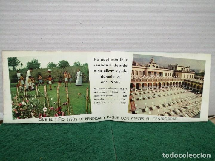 Postales: POSTAL NAVIDAD ASILO HOSPITAL DE SAN JUAN DE DOOS BARCELONA 1957 - Foto 2 - 185983273