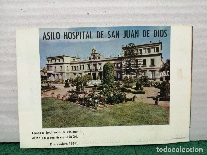 Postales: POSTAL NAVIDAD ASILO HOSPITAL DE SAN JUAN DE DOOS BARCELONA 1957 - Foto 3 - 185983273