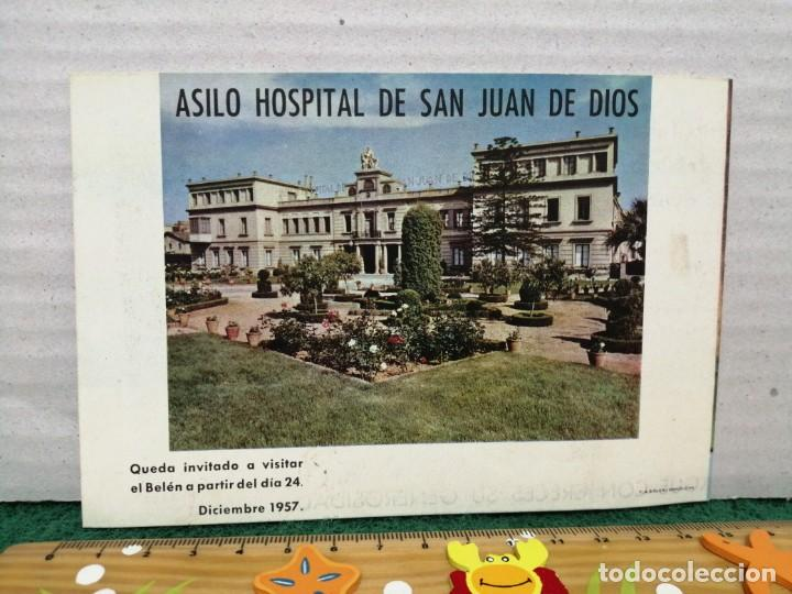 Postales: POSTAL NAVIDAD ASILO HOSPITAL DE SAN JUAN DE DOOS BARCELONA 1957 - Foto 4 - 185983273
