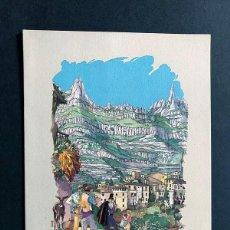 Postales: EMILIO FERRER / TARJETA NAVIDAD / MONTSERRAT / ESCRITA / 16 X 12. Lote 186445437