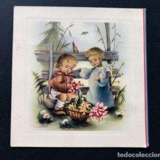 Postales: NURIA BARO / TARJETA NAVIDAD / DIPTICO / C.YZ. 1139/1 / ESCRITA / 11,5 X 11. Lote 186526841