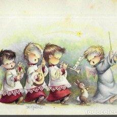 Postales: TARJETA NAVIDAD FERRÁNDIZ ANTIGUA * ANGEL DIRECTOR MUSICAL * ( LEER DESCRIPCIÓN). Lote 187319563