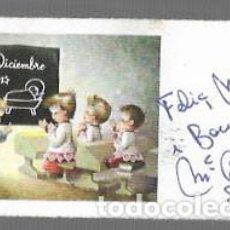 Postales: TARJETA NAVIDAD MINIATURA FERRÁNDIZ * EN LA ESCUELA *. Lote 189548281