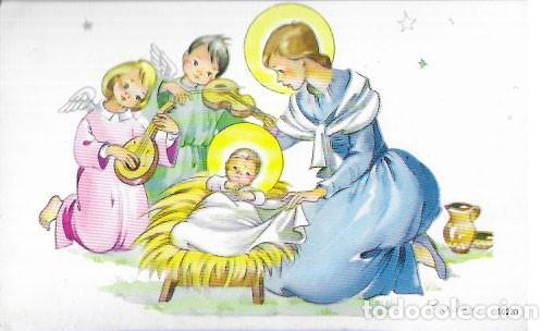 TARJETA NAVIDAD PRUDEN * ANGELITOS TOCANDO PARA JESÚS * (Postales - Postales Temáticas - Navidad)