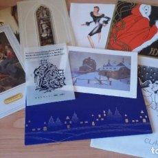 Postales: LOTE DE 9 TARJETAS DE FELICITACIÓN DE NAVIDAD CON PUBLICIDAD VARIADA.. Lote 190505827