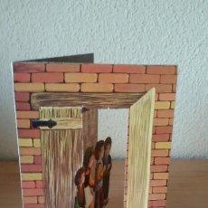 Postales: FELICITACIÓN DE NAVIDAD TROQUELADA, DESPLEGABLE. LIT. HIJOS DE F ARMENGOT, 1976. Lote 190507655