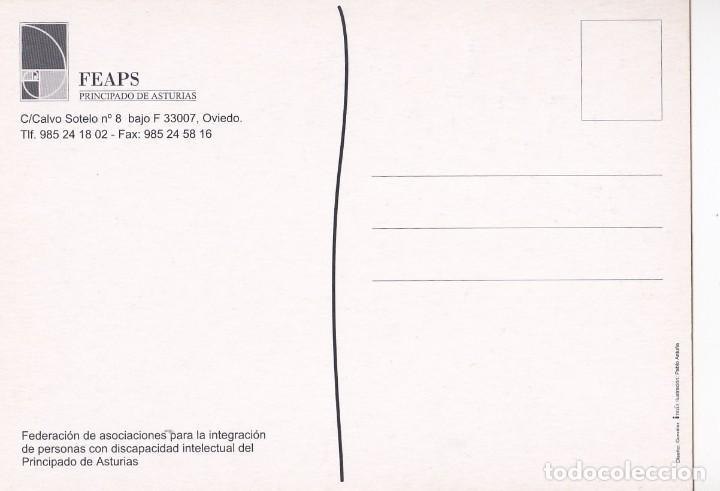 Postales: POSTAL FELICITACION DE NAVIDAD. FEAPS. ASTURIAS - Foto 2 - 190509507