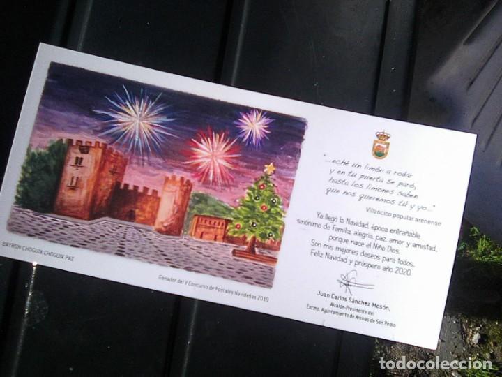 FELICITACIÓN NAVIDEÑA AYUNTAMIENTO ARENAS DE SAN PEDRO 2019 - DIBUJO INFANTIL + VILLANCICO POPULAR (Postales - Postales Temáticas - Navidad)