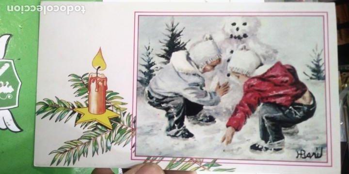 TARJETA POSTAL JUGANDO EN LA NIEVE ARTIS MUTI (Postales - Postales Temáticas - Navidad)